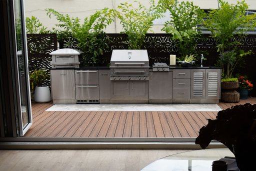 Outdoor Kitchen With Nanawalls